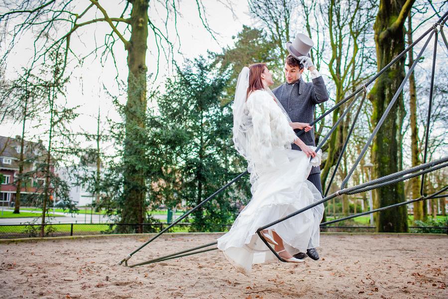 Bruidsreportage Wilhelminapark