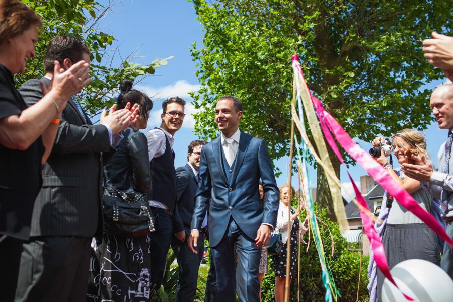 Aankomst bruidspaar