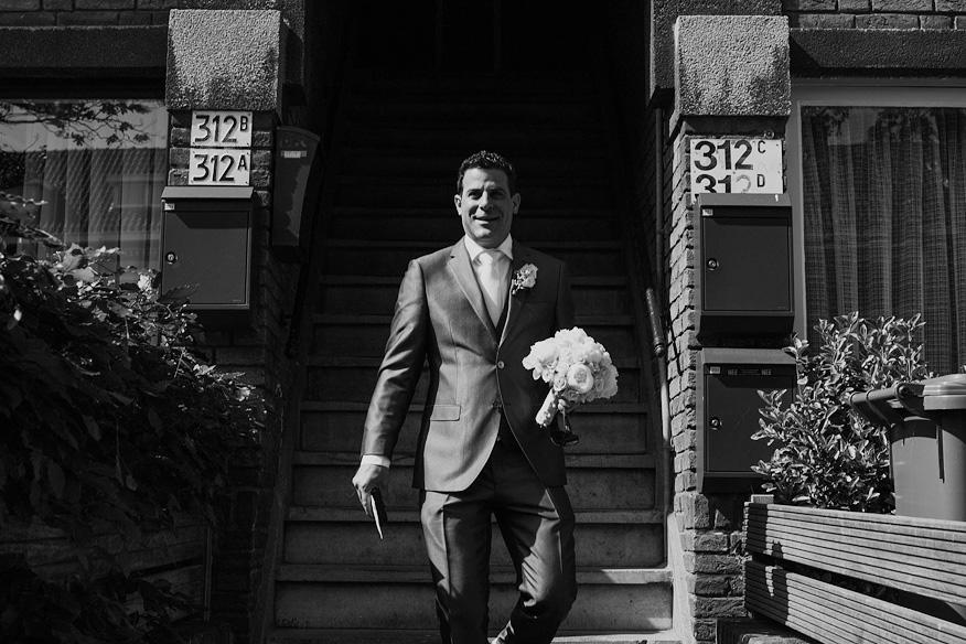 Voorbereiding bruidegom bruiloft