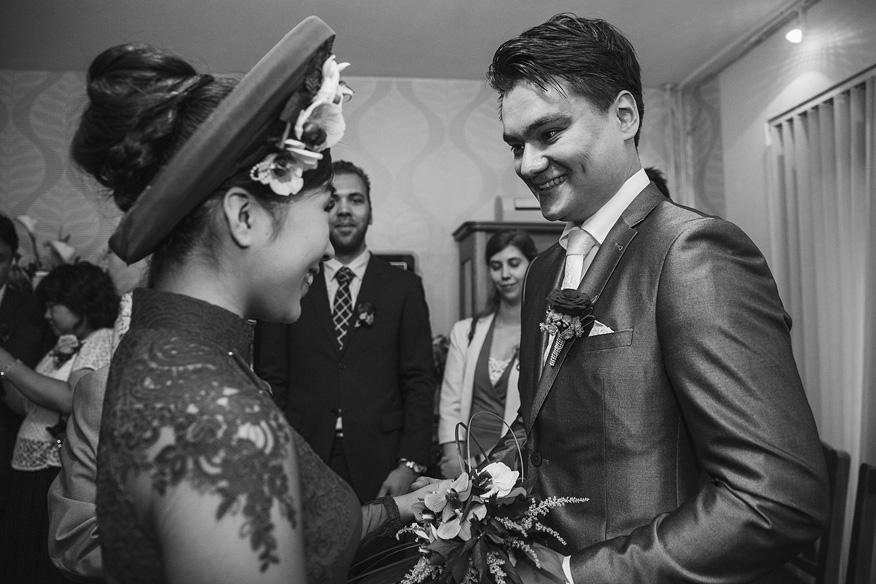 Theeceremonie bruiloft