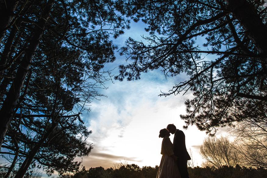 Ontspannen trouwreportage winterbruiloft