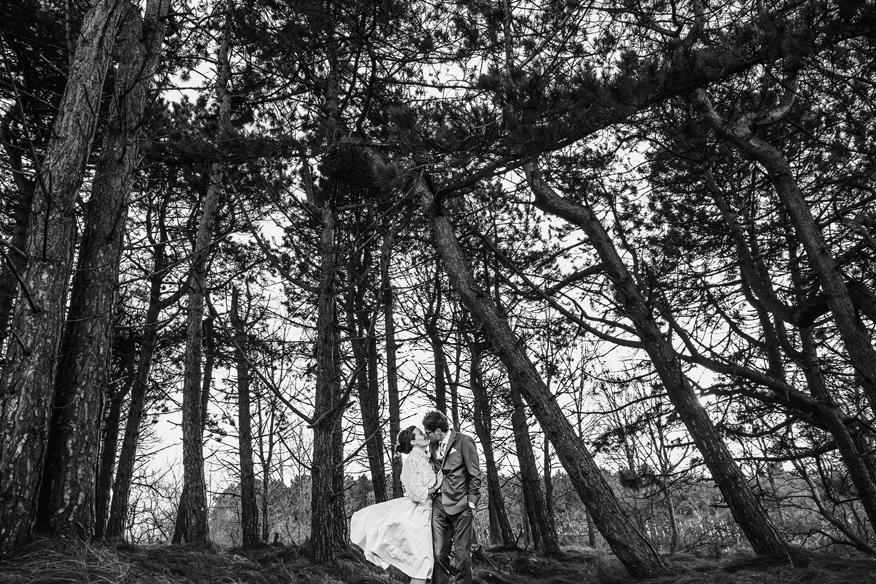 bruidsfotografie ontspannen winterbruiloft