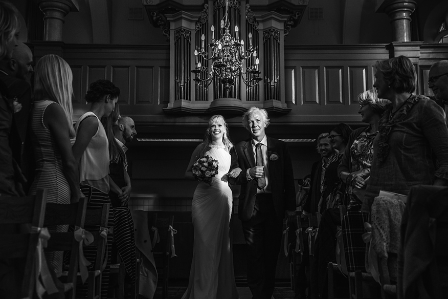 trouwen in de kerk trouwreportage Marken
