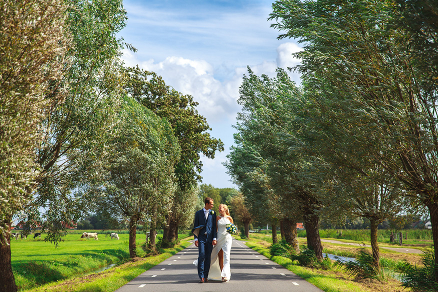 Fotoshoot Bruiloft Zuiderwoude Waterland