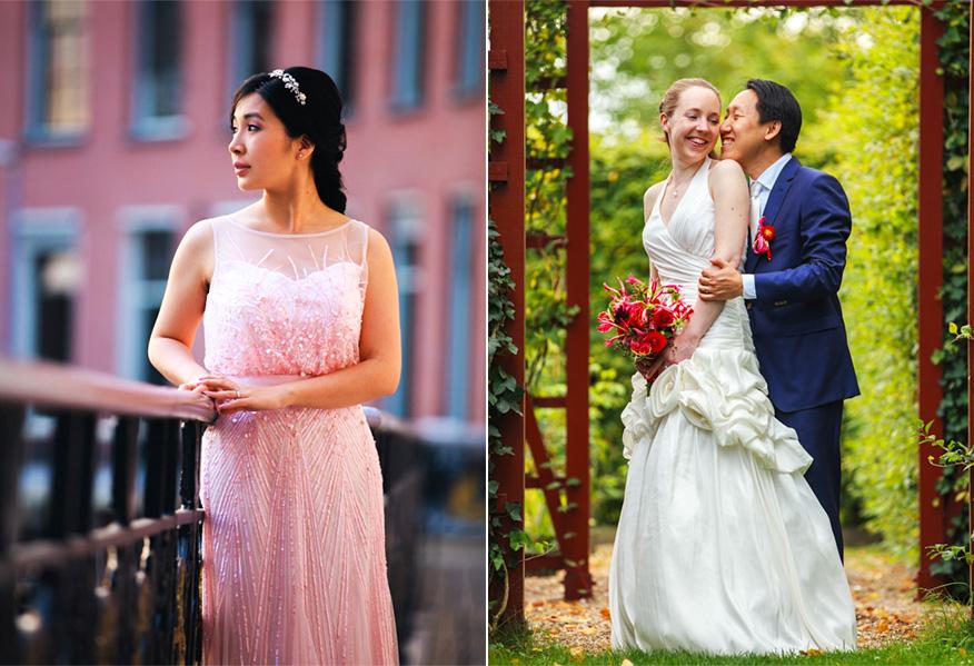 aziatische bruiloft trouwfoto's