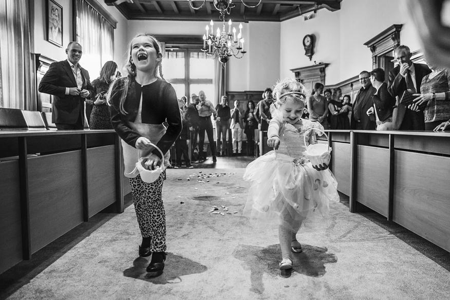 trouwceremonie bruidsfotograaf zandvoort bruidsmeisjes