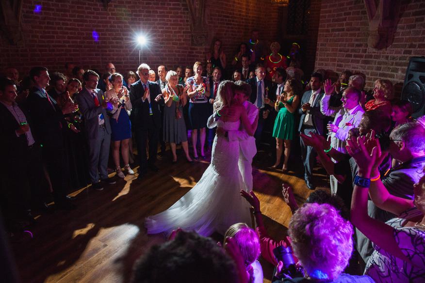 Feest bruiloft vader dochter dans