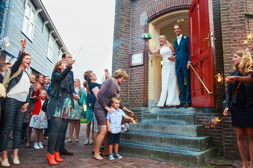 bruiloft op marken