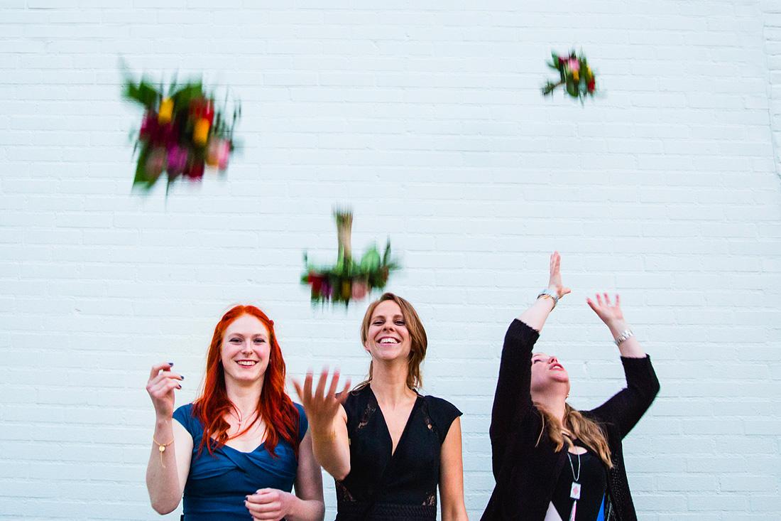 Bruidsmeisjes bruidsboeket