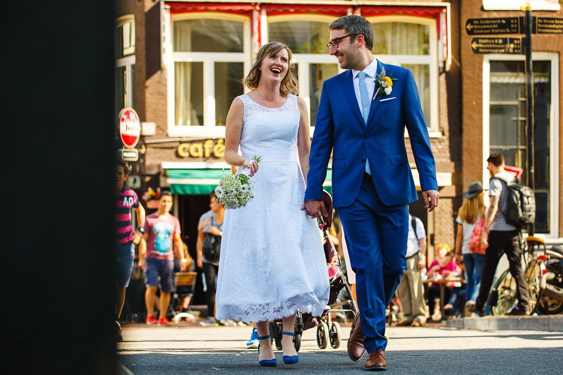 ontspannen trouwreportage amsterdam