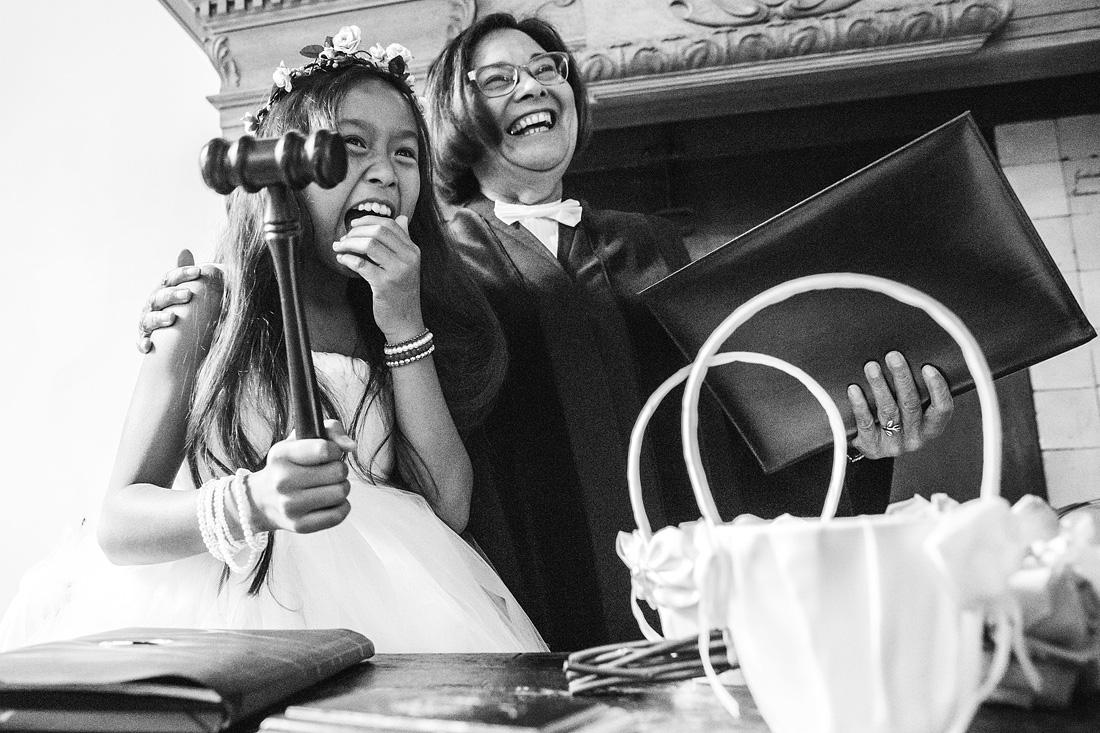kind hamer trouwceremonie
