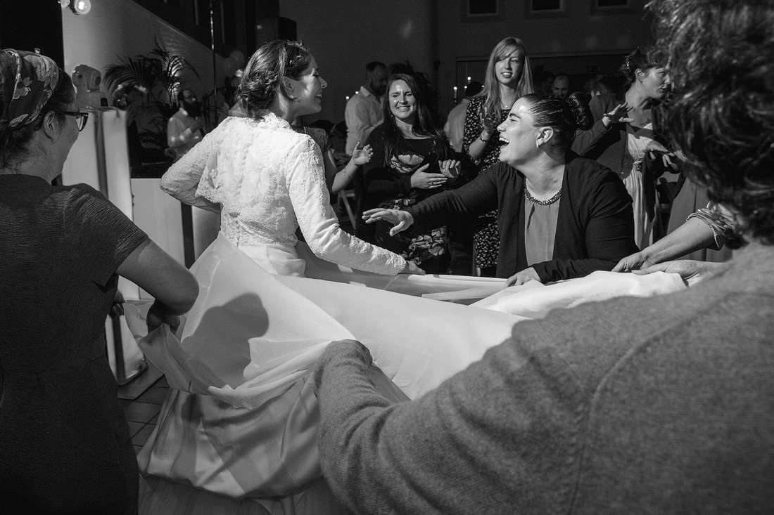 bruid jurk dansen