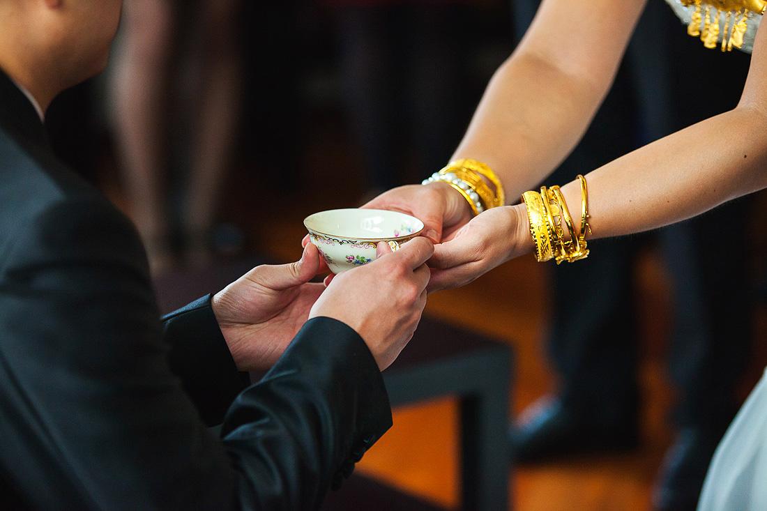 chinese bruiloft theeceremonie