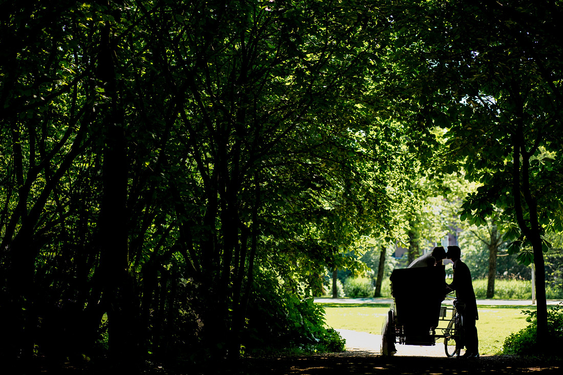 trouwfoto's vondelpark amsterdam