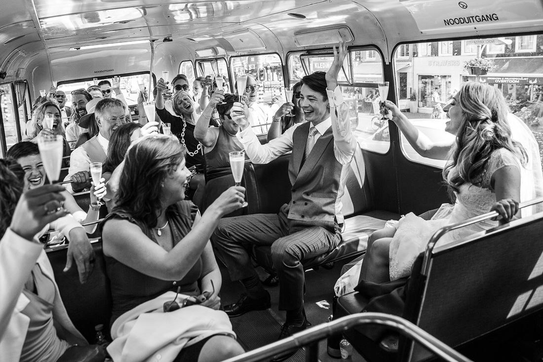 bruiloft dubbeldekker amsterdam