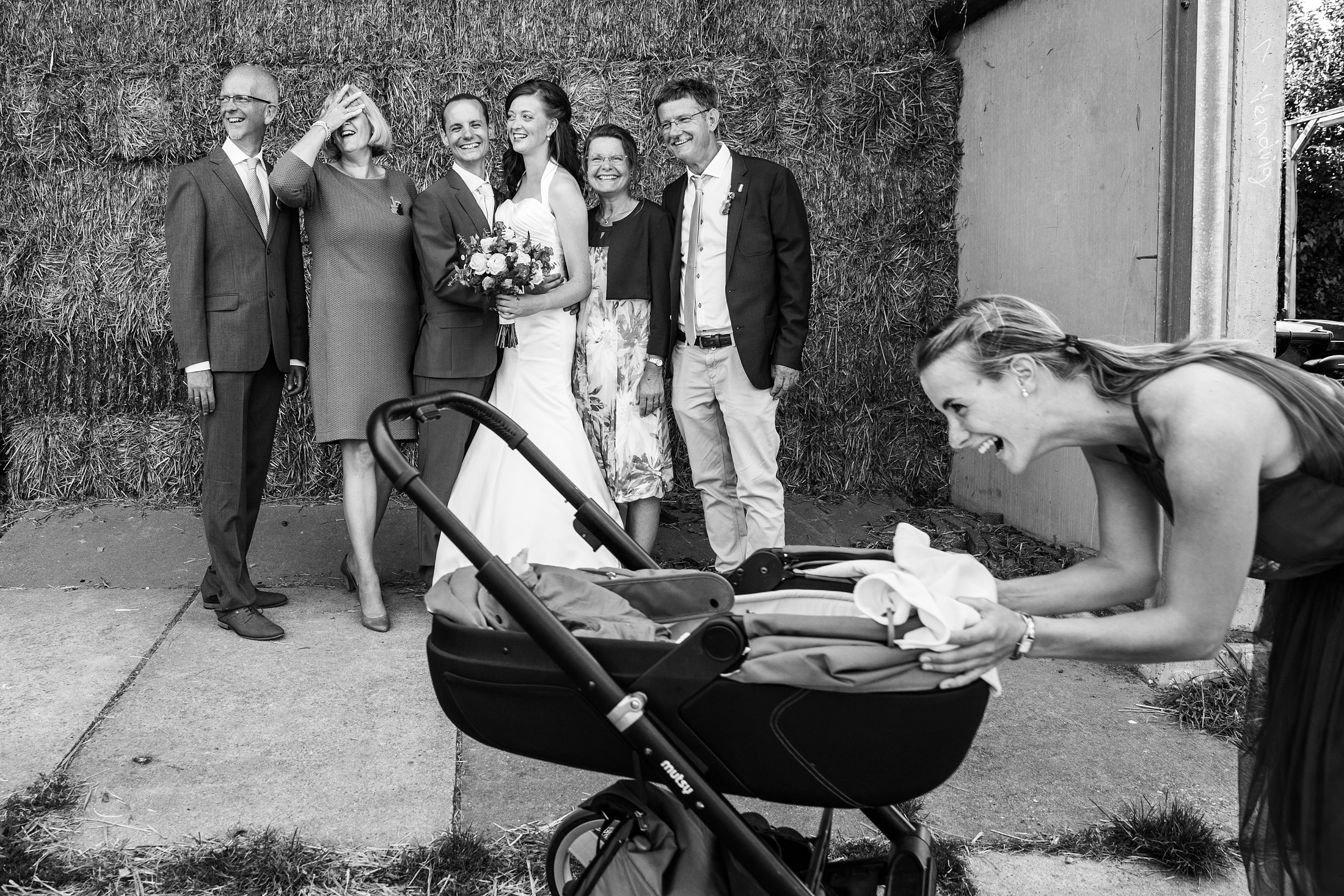 groepsfoto bruiloft fotojournalistiek