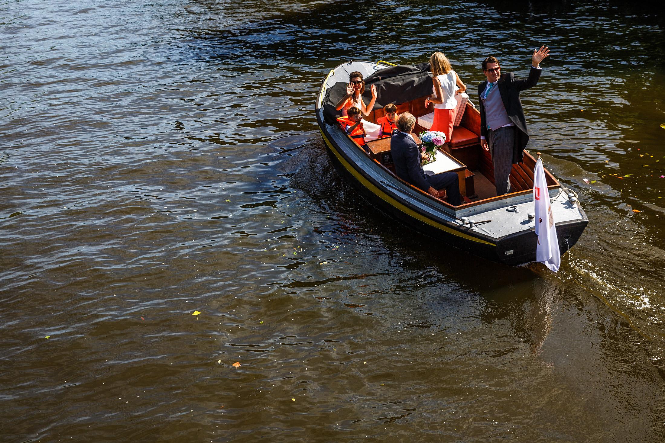 boottocht bruiloft amsterdam