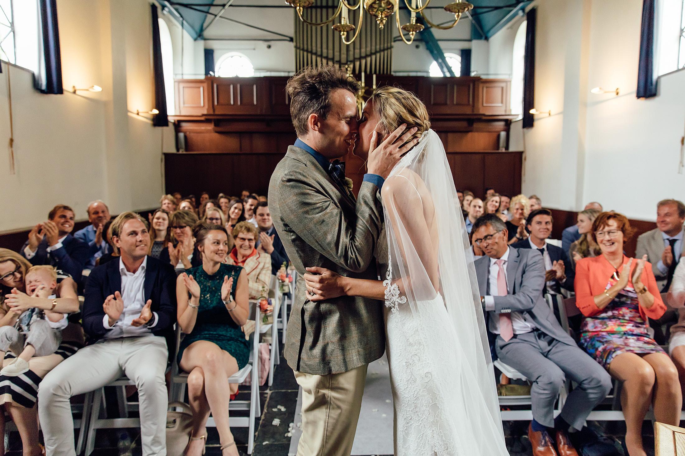 kus trouwceremonie