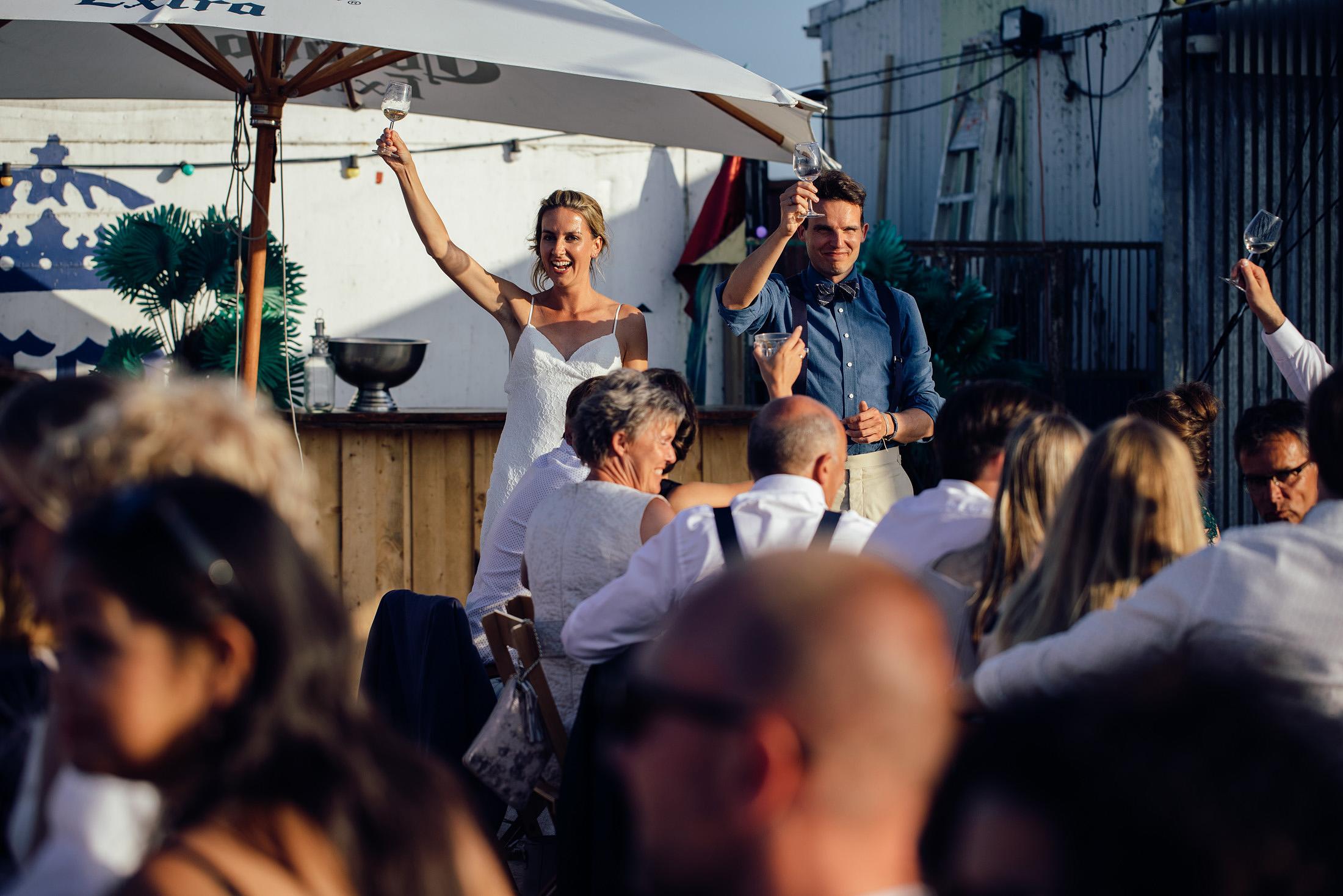 toost bruiloft blijburg