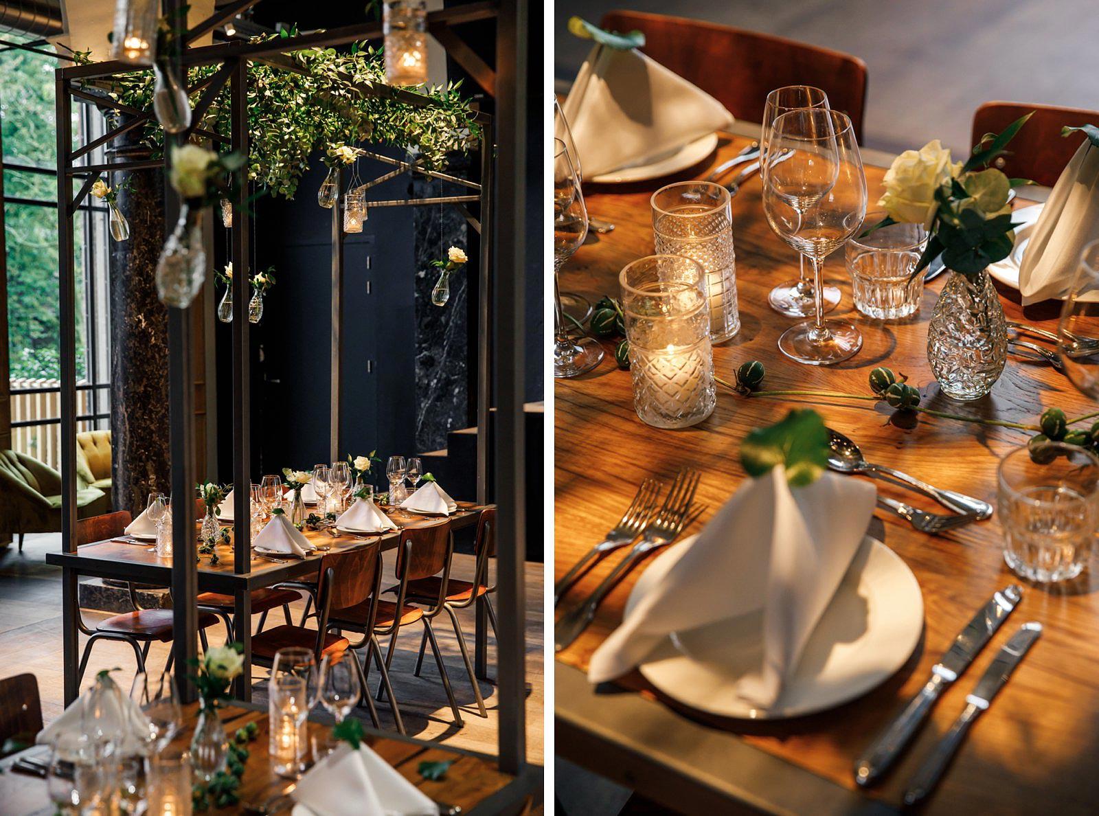 Styling bruiloft diner