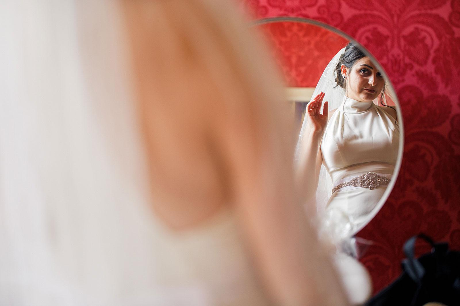 Voorbereiding bruid bruiloft