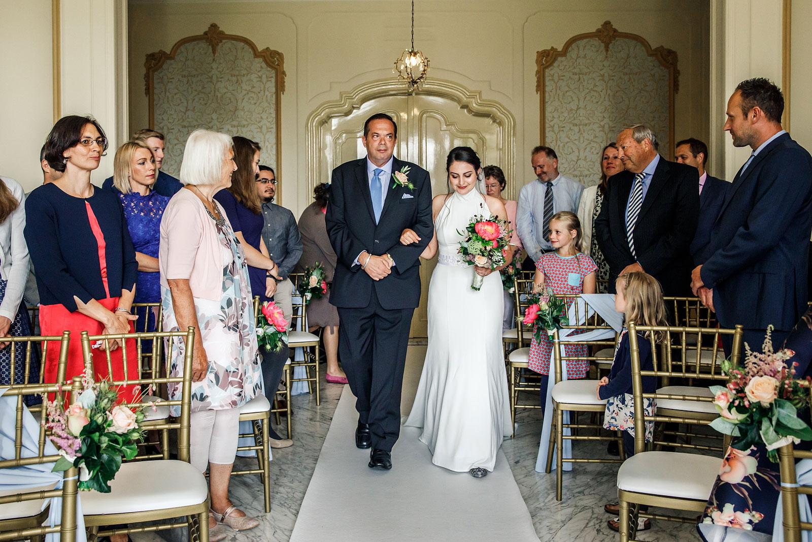 ceremonie entree bruid