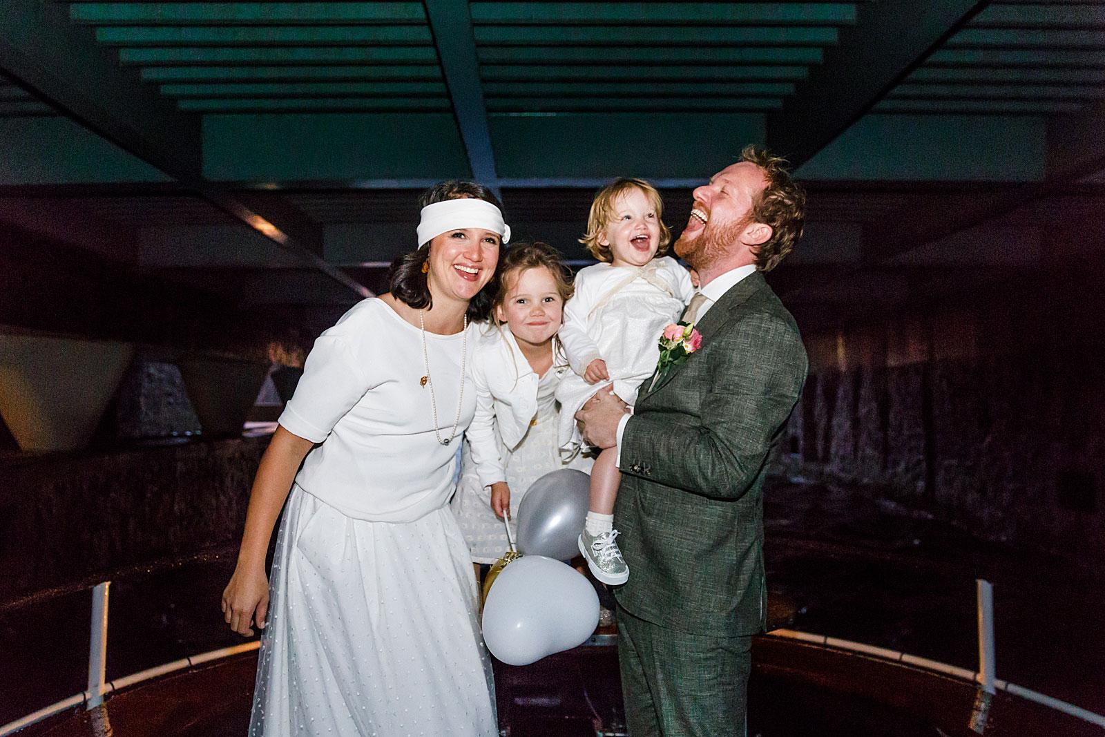 boottocht bruiloft bruidspaar