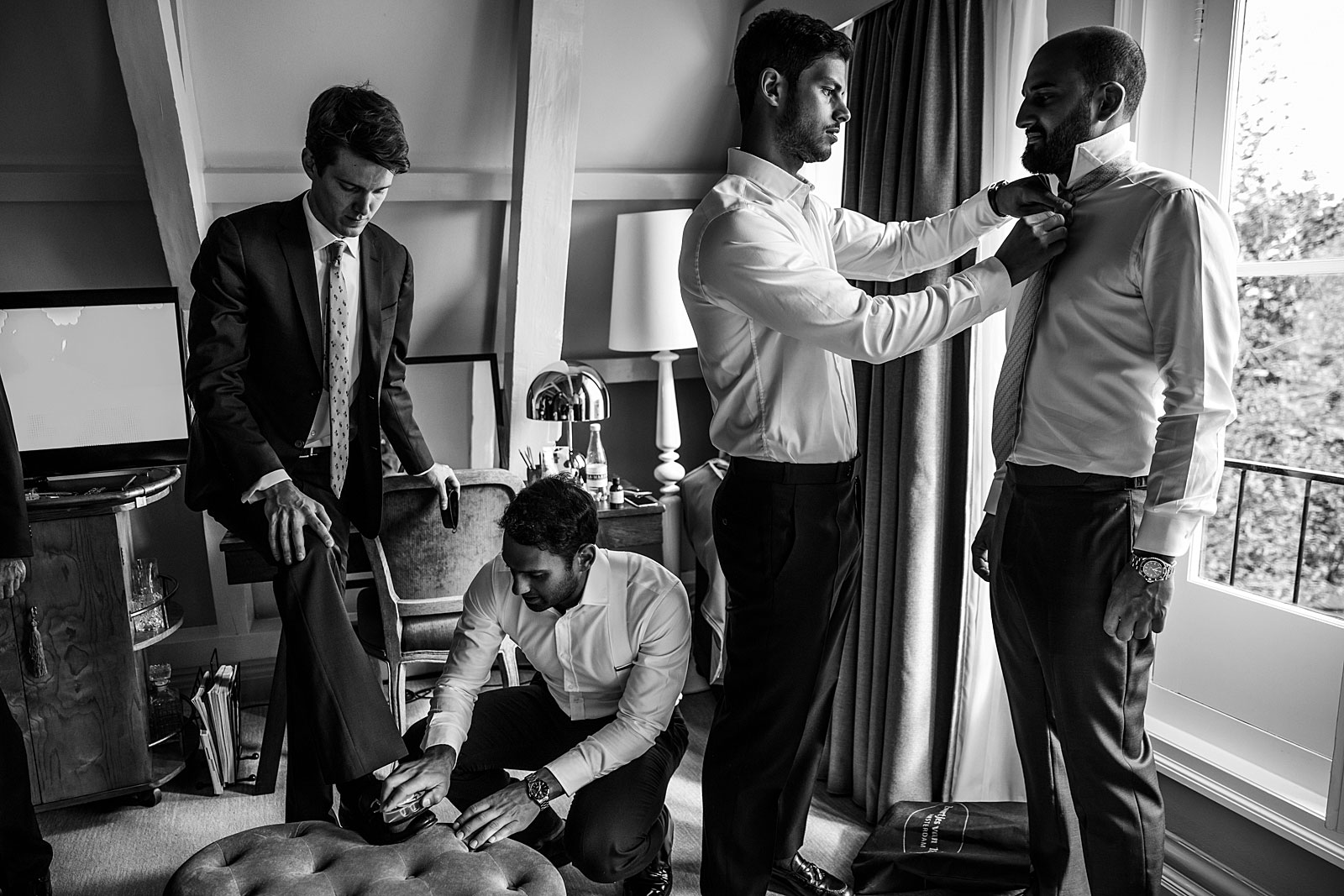 Preparation groom pulitzer hotel amsterdam