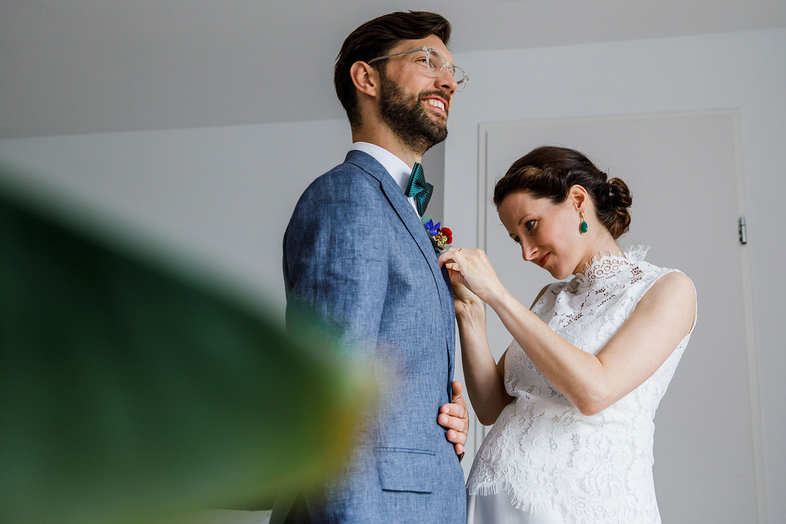 voorbereiding bruidegom
