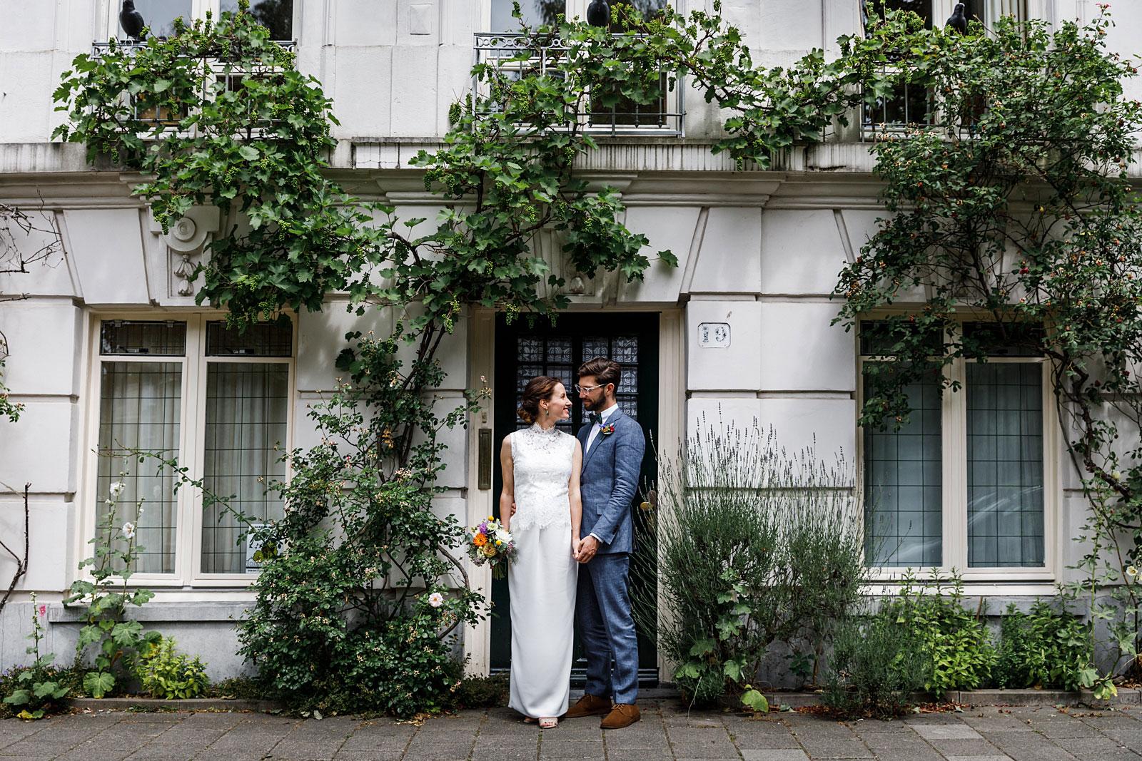 Bruiloft in de Hortus Botanicus
