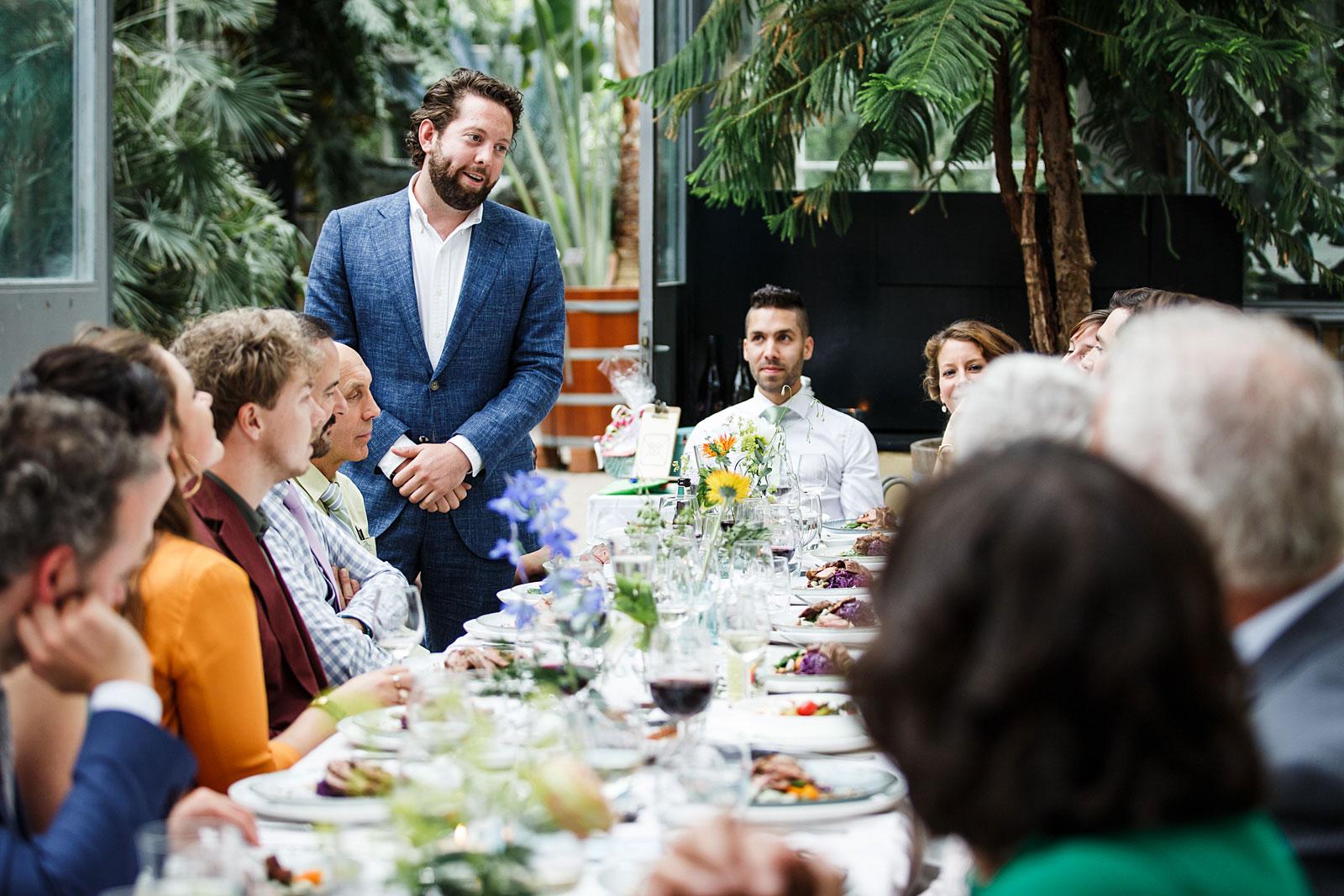 diner bruiloft hortus botanicus
